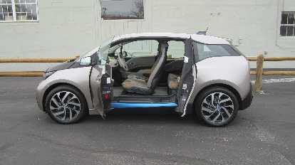 Suicide doors of the BMW i3.