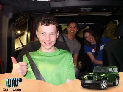 Felix Wong, Maureen, inside Jeep Wrangler