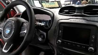 Interior of a 2016 Jeep Renegade.