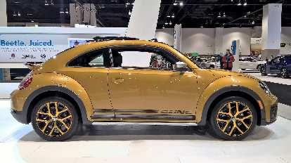Gold 2016 Volkswagen Dune Beetle.