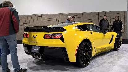 Yellow 2016 Chevrolet Corvette.