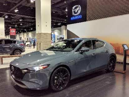 A 2019 Mazda 3 five-door.