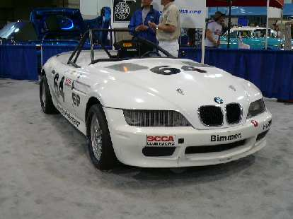 This Z3 was completely gutted for SCCA racing.