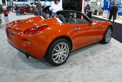 Side view of the Pontiac Solstice.  Once again, the Solstice was my favorite car of the show.