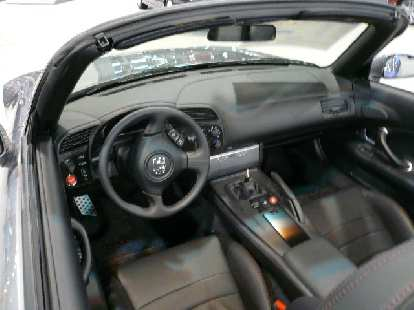 My nomination for worst (ugliest and dated) interior of all cars at the show: the Honda S2000's.  Interiors have really come a long ways since the S2000 first came out.