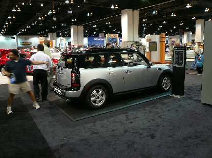 """The new MINI Clubman.  Note the Saturn SC-like """"suicide"""" door (but on the right side instead of the left side like the Saturn)."""