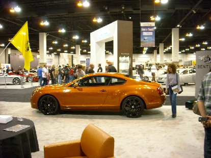 A Bentley Continental GT with 2+2 seating.