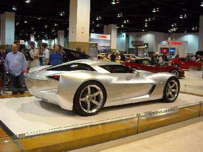 A Corvette Stingray concept.  I hope the next 'Vette looks a lot like this.