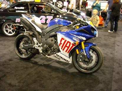 A Yamaha race bike -- probably an R1.
