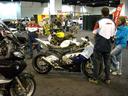 A BMW S1000 motorcycle.