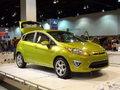 """The 2010 Ford Fiesta.  I like the """"kinetic design"""" styling and its anticipated 40mpg highway."""