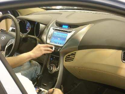 The gorgeous interior of the new Hyundai Elantra.