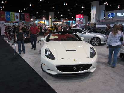 You don't see too many Ferraris in white, but here is a Ferrari California in that color.