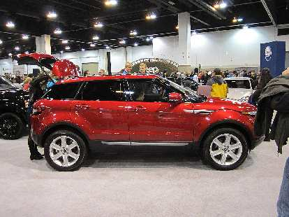 Land Rover Evoque 5-door.  I like it, but like style of the 3-door one (not at the show) even more.