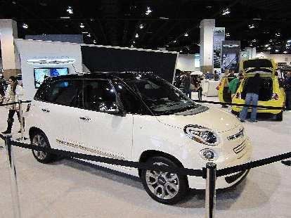 The upcoming Fiat 500 5-door.  Not quite as cute as the 3-door...