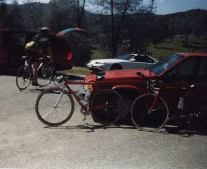 red Cannondale 3.0, rest stop, 1999 Devil Mountain Double Century