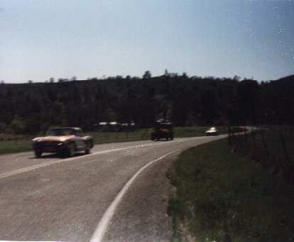 classic cars, back side of Mt. Hamilton, 1999 Devil Mountain Double Century
