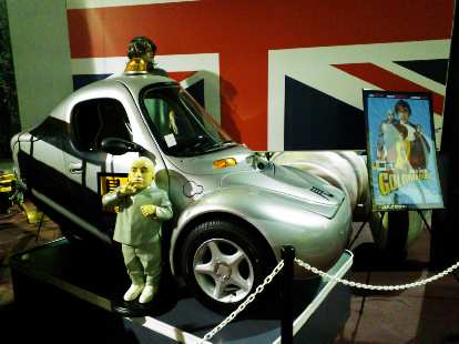 A Corbin Sparrow electric vehicle, as seen in the Austin Powers movie Goldmember.