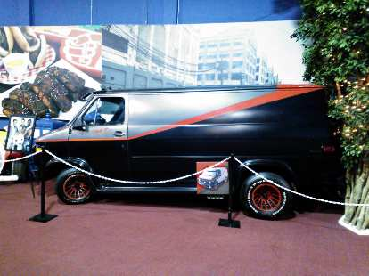 The iconic A-Team van, sans roof spoiler.