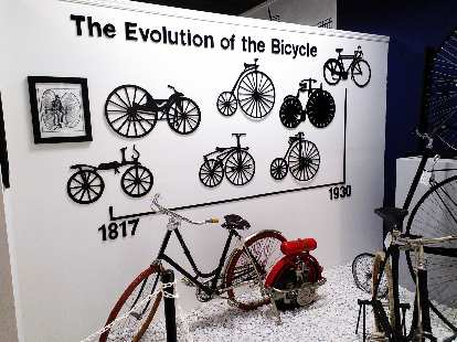 The evolution of the bicycle.
