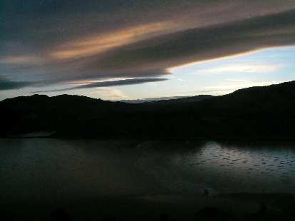 Neat cloud formations as the sun set.