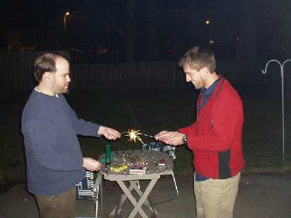 We (well mostly Sam and Dan) then rang in the new year by lighting 15-year-old sparklers and smoke bombs.