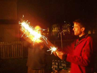 The sparklers worked!
