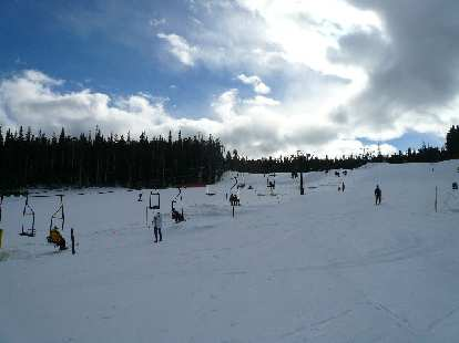 Going up the chairlift on one of my first ski runs at Eldora.