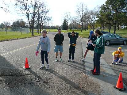 Another gorgeous Colorado day, perfect for running.  Here's Diane, Adam, Rae, Chris, and Nick hanging around the start.
