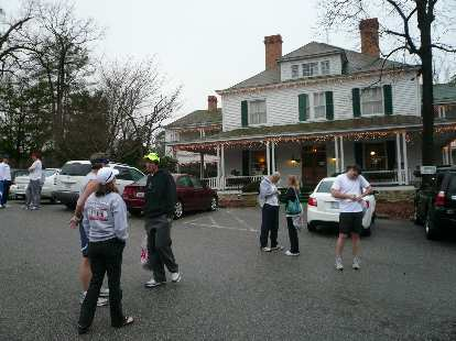Outside the Ellerbe Springs Inn before the marathon.