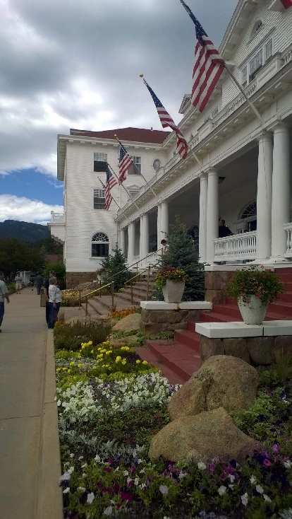 Entrance to the Stanley Hotel.