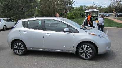 The Nissan Leaf we test drove.