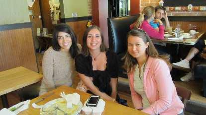 Lauren, Diana, and Katia at Tasty Harmony.