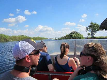 On an airboat.