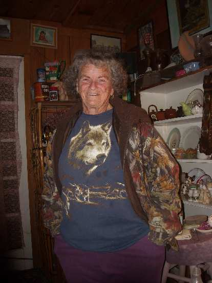 Rose Grier, the active 87-year-old who owned the antique shop.  She saved me.