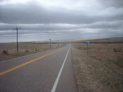 The scenery was just like this for the entire 132 miles.