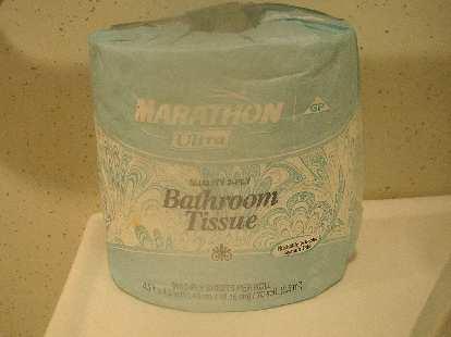 "The toilet paper at the Kiowa checkpoint---""Marathon Ultra""---describes what I do."