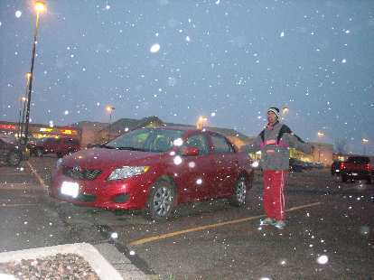 I got back to the finish and my bike-hauling rental car just in time as it started snowing hard 10 minutes later.