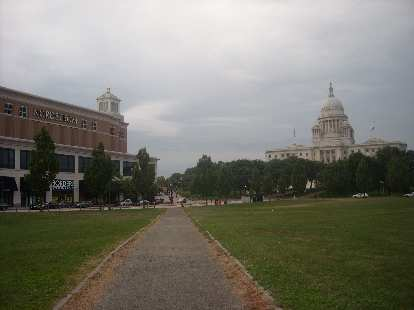 The state capital of Providence, Rhode Island.