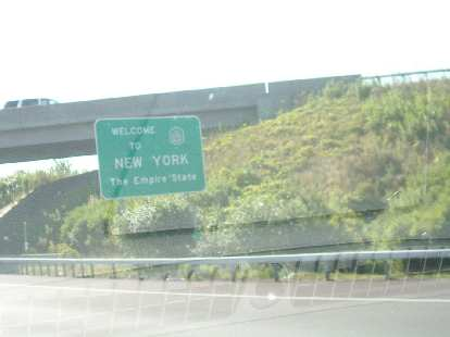 Now in New York, the Empire State.  Cops were hiding every 3 miles on the highway and I paid about $20 in tolls to travel across the state.