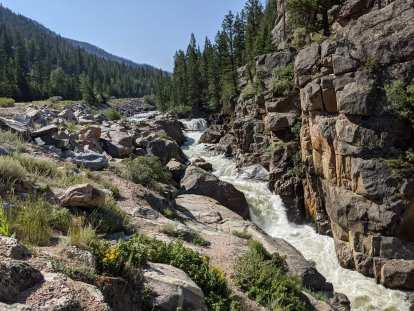 [Mile 60, 10:22 a.m.] The Poudre Falls had a lot of water in it.