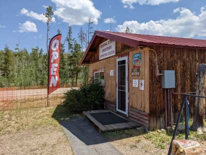 [Mile 78, 12:28p] The General Store at the Cabins in Gould, Colorado is always a lifesaver for a ride like this.