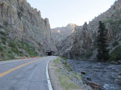 [Mile 26] The iconic tunnel in the Poudre Canyon.