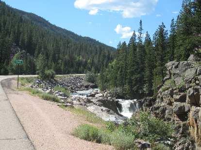 [Mile 59] Poudre Falls.