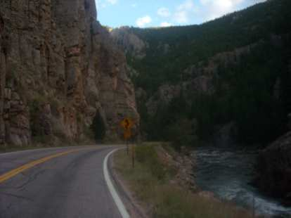 Heading down Highway 14 along the Poudre River.