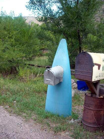 Nice surfboard mailbox.