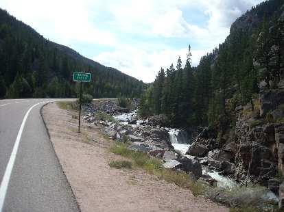 [Mile ~60] Poudre Falls.