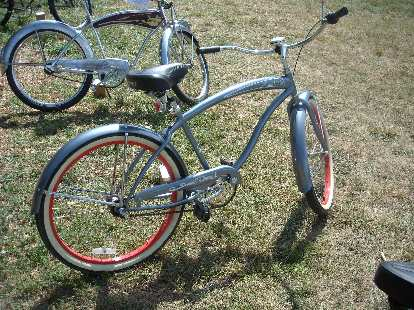 """A nice Micargi Rover that is probably of recent vintage since its """"artwork"""" were actually decals and the bike looked new.  At least it is still sold today."""