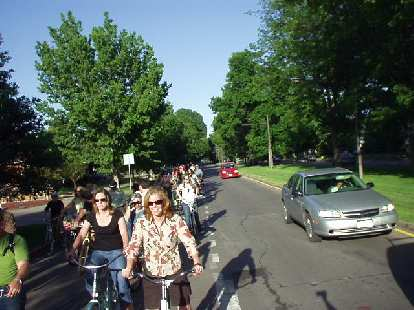 Us bicyclists sort of took over the neighborhood streets, but most drivers were courteous and considerate.