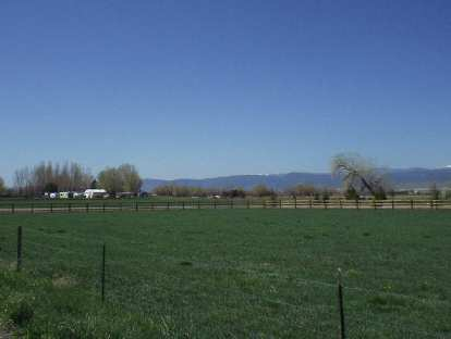 Lush and green land along the Front Range.